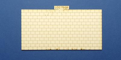 LCC 73-06 O gauge small signal box roof tiles panel