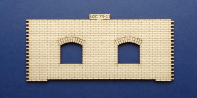 LCC 73-11 O gauge medium signal box front wall type 1