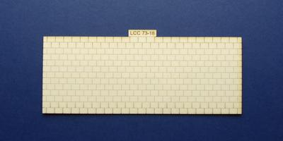 LCC 73-18 O gauge medium signal box roof tiles panel