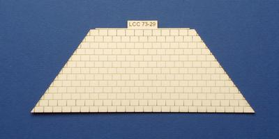 LCC 73-29 O gauge medium signal box hipped roof tile panel
