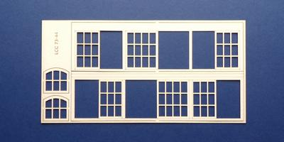LCC 73-44 O gauge set of windows for 73-11 type 1