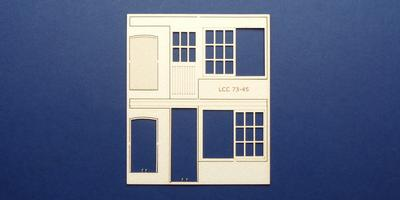 LCC 73-45 O gauge set of windows for 73-12 type 1