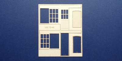 LCC 73-46 O gauge set of windows for 73-13 type 1