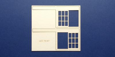 LCC 73-47 O gauge set of windows for 73-14 type 1