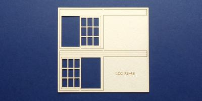 LCC 73-48 O gauge set of windows for 73-15 type 1