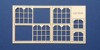 LCC 73-50 O gauge midland style signal box front window set
