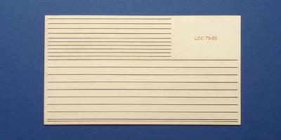 LCC 73-53 O gauge set of decoration strips for midland style signal box