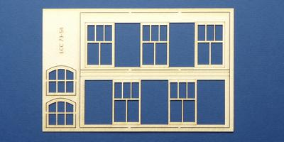 LCC 73-54 O gauge small signal box front windows set