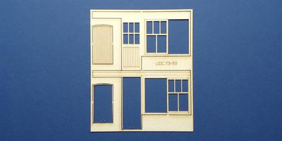 LCC 73-55 O gauge set of windows for LCC 73-12