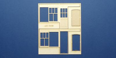 LCC 73-56 O gauge set of windows for LCC 73-13