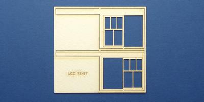 LCC 73-57 O gauge set of windows for LCC 73-14