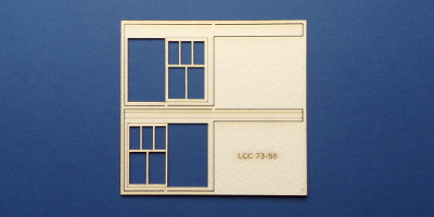 LCC 73-58 O gauge set of windows for LCC 73-15