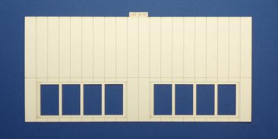 LCC 74-107 O gauge north light style engine shed roof panel