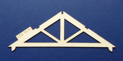 LCC 74-14 O gauge industrial roof support type 1