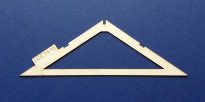 LCC 74-15 O gauge industrial roof support type 2
