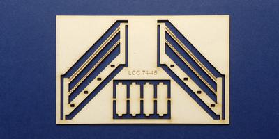 LCC 74-45 O gauge stairs for good shed loading platform