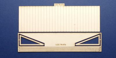 LCC 74-47 O gauge small goods shed canopy