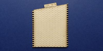 LCC 74-74 O gauge industrial office right panel - sloped