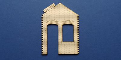 LCC 74-77 O gauge industrial office door and window panel with gable type 3
