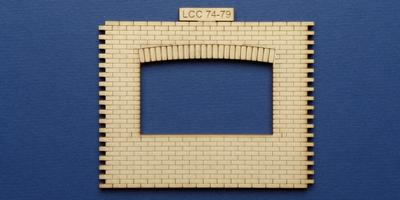 LCC 74-79 O gauge industrial office front panel with wide window