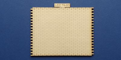 LCC 74-80 O gauge industrial office back wall type 3