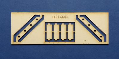LCC 74-83 O gauge staircase for coal stage