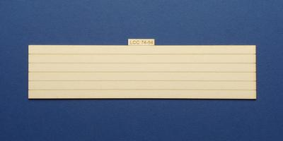 LCC 74-84 O gauge plank panel for coal staithes type 1