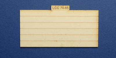 LCC 74-85 O gauge plank panel for coal staithes type 2