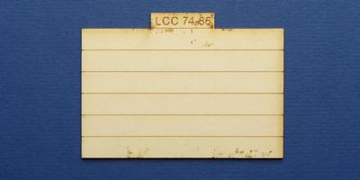 LCC 74-86 O gauge plank panel for coal staithes type 3