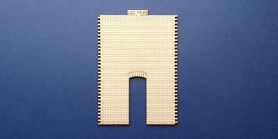 LCC 74-89 O gauge industrial wall panel with single door opening