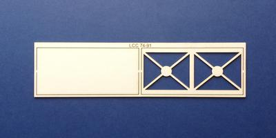 LCC 74-91 O gauge steel panel for water tank - front and back