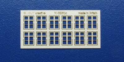 M 00-31c OO gauge kit of 12 casement windows with transom