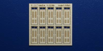 M 00-38c OO gauge kit of 10 single doors with square transom type 1