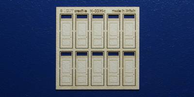 M 00-39c OO gauge kit of 10 single doors with square transom type 2