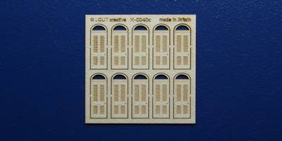M 00-40c OO gauge kit of 10 single doors with round transom type 1