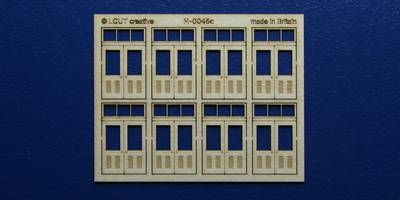 M 00-46c OO gauge kit of 8 double doors with square transom type 1