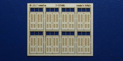 M 00-48c OO gauge kit of 8 double doors with square transom type 3
