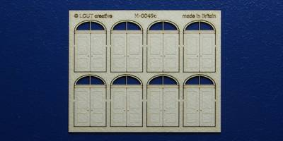M 00-49c OO gauge kit of 8 double doors with round transom type 1