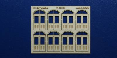 M 00-50c OO gauge kit of 8 double doors with round transom type 2