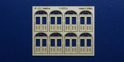 M 00-51c OO gauge kit of 8 double doors with round transom type 3