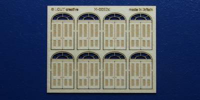 M 00-52c OO gauge kit of 8 double doors with round transom type 4