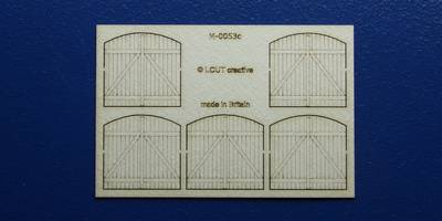 M 00-53c OO gauge kit of 5 industrial gates with round top