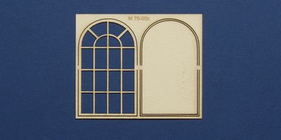 M 70-00c O gauge industrial window with round top type 1
