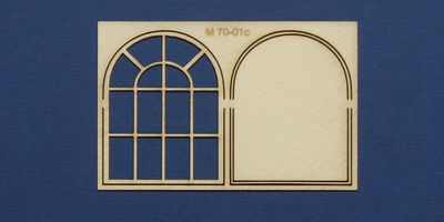 M 70-01c O gauge industrial window with round top type 2