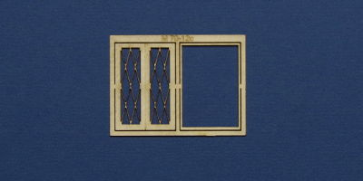 M 70-12c O gauge residential style casement window with lattice type 2
