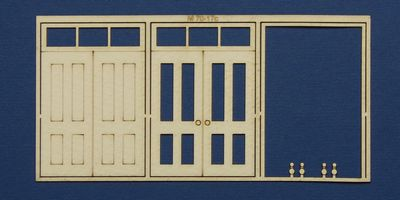 M 70-17c O gauge double door with square transom type 1