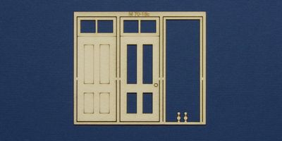 M 70-18c O gauge single door with square transom type 1