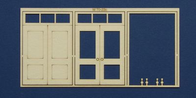 M 70-23c O gauge double door with square transom type 2