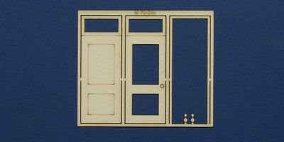M 70-24c O gauge single door with square transom type 2