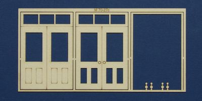 M 70-27c O gauge double door with square transom type 3